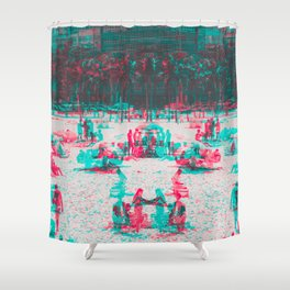 Arpoador Anaglyph Shower Curtain