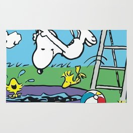 snoopy swimming summer Rug