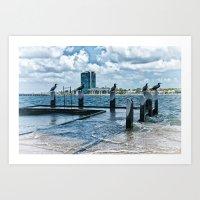 Stormy River Art Print