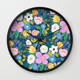 FLORAL FOREST Wall Clock