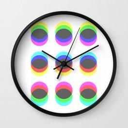 CMYK in RGB Circles Wall Clock