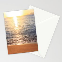Tropical Sunset Reflecting On Ocean Surface Stationery Cards
