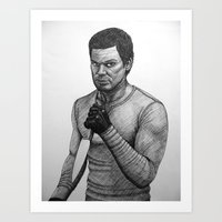 dexter Art Prints featuring Dexter by Jack Kershaw