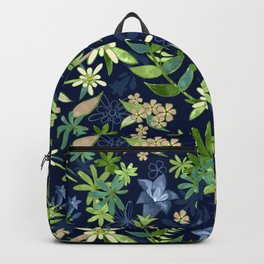 Alpine Flowers Blue - Gentian, Edelweiss Backpack
