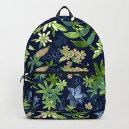Alpine Flowers Blue - Gentian, Edelweiss Backpack