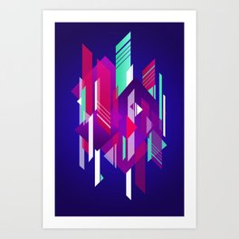 Shattered and Stained Art Print
