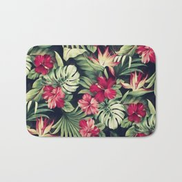 Night tropical garden Bath Mat
