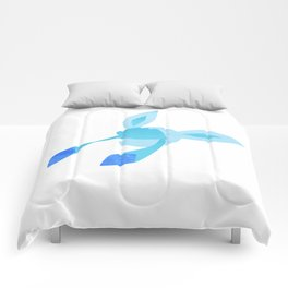 Watercolor Glaceon Comforters