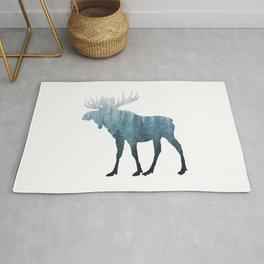 Misty Forest Moose Rug