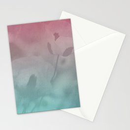 Pink Blue Poppies Stationery Cards
