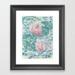 Ninfee. Waterlilies. Nynphéas Framed Art Print