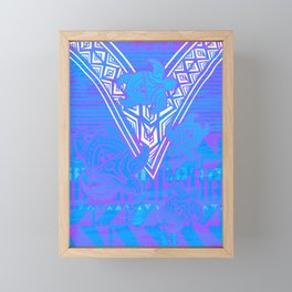 Fijian Tribal Turtle Print Framed Mini Art Print