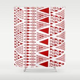 Zig Zag Pattern -  brick red Shower Curtain