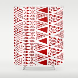 Zig Zag Pattern -  brick red Shower Curtain