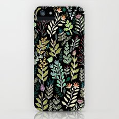 Dark Botanic Slim Case iPhone (5, 5s)