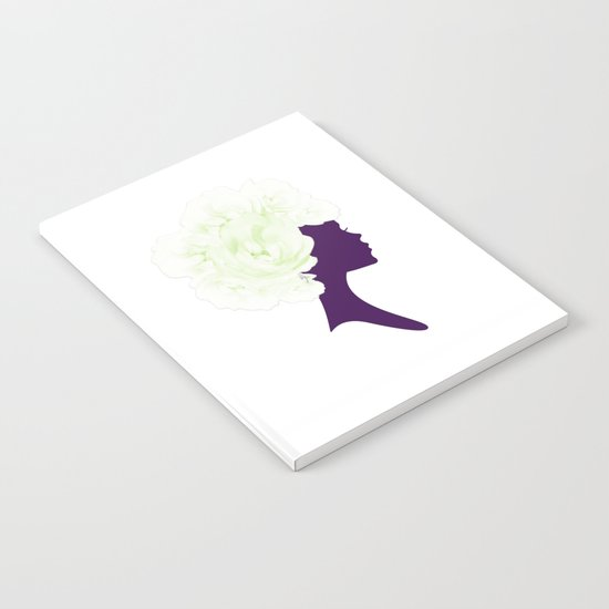 Rose Silhouette Notebook