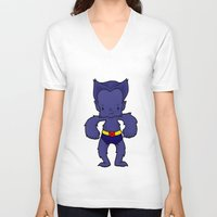 xmen V-neck T-shirts featuring BEAST by Space Bat designs