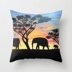 Sunset Travelers  Throw Pillow
