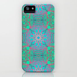 Pink Lotus Lattice iPhone Case