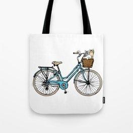 bike and Cats Tote Bag