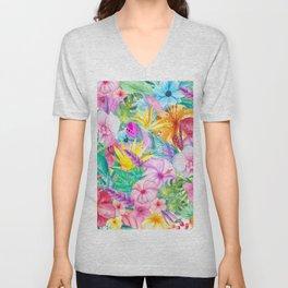 beauty floral i Unisex V-Neck