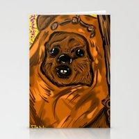ewok Stationery Cards featuring Ewok by Art of Fernie