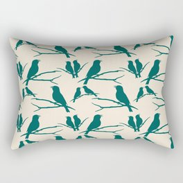 Rustic Green Bird Rectangular Pillow