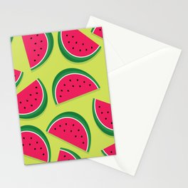 Juicy Watermelon Slices Stationery Cards