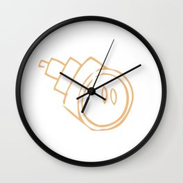 Caramel Town - Roro Wall Clock