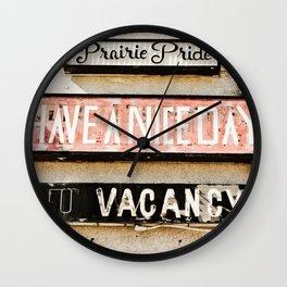 Prairie Pride Wall Clock