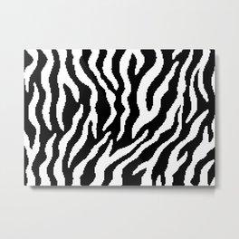8 bit Zebra stripes pattern. Digital illustration Metal Print