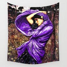 Boreas 1903 by John William Waterhouse in purple decor Wall Tapestry