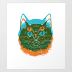 Riso Cat Art Print