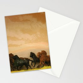 Toys Horses Diorama Stationery Cards