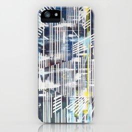 Lines blue iPhone Case