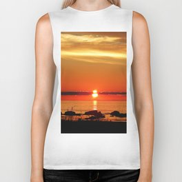 Sunset in a Northern Paradise Biker Tank