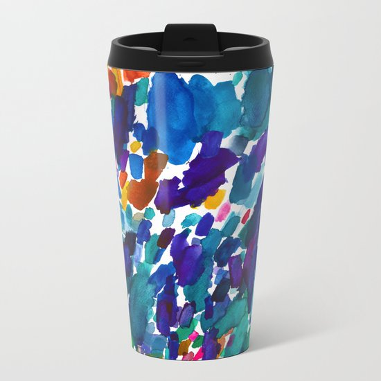 watercolor color study vol 1 Metal Travel Mug