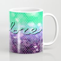 explore Mugs featuring explore by Lisa Argyropoulos