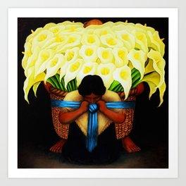 El Vendedor de Alcatraces (the Bringing of the Calla Lilies to Market) by Diego Rivera Art Print