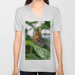 Owl Eye Butterfly by Teresa Thompson Unisex V-Neck