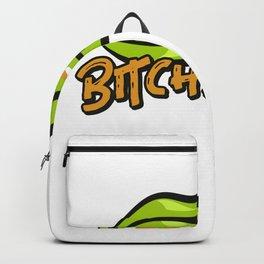 Bitch peas funny pun foodpun vegan humor gift idea Backpack