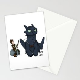 Hungry Toothless Stationery Cards