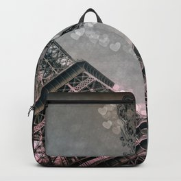 I Dream of Paris Pink Gray Backpack