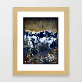 Sapphire Surf Framed Art Print