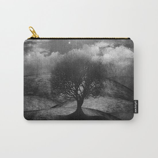 Black and white - Once upon a time... The lone tree. Carry-All Pouch