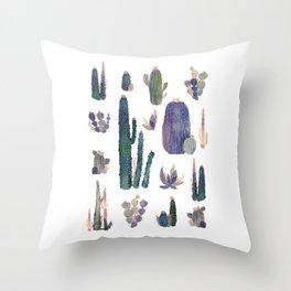 Watercolor Catus Throw Pillow