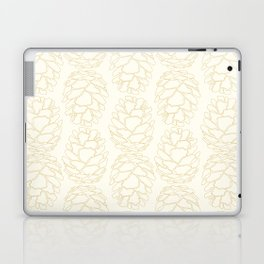 Rustic Pinecone Illustrated Print in Cream and Beige Laptop & iPad Skin