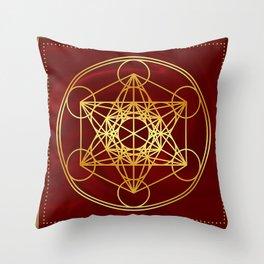 Metatrons Cube, Flower of life, Sacred Geometry Throw Pillow