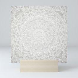 Mandala Soft Gray Mini Art Print