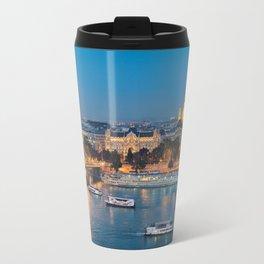 Blue hour on Danube Travel Mug